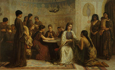 Painting - A Dorcas Meeting In The 6th Century by Edwin Long