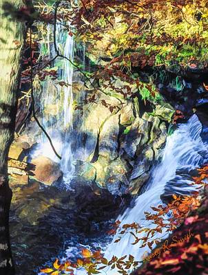 Digital Art - A Double Waterfall, by Rusty R Smith