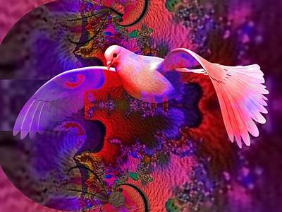 Digital Art - A Dove Of Peace by Nancy Pauling