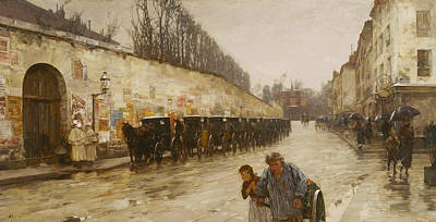 Painting - A Downpour - Rue Bonaparte by Childe Hassam