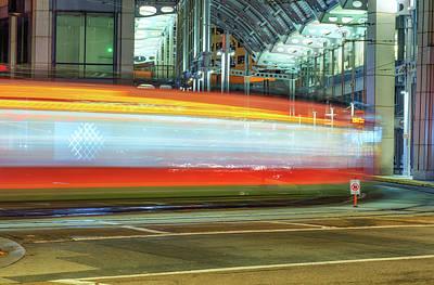 A Downtown Blur Art Print