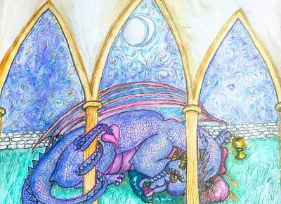 Painting - A Dragons Dream by Janice T Keller-Kimball