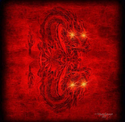Unreal Digital Art - A Dragon's Hiss Sketch by Majula Warmoth