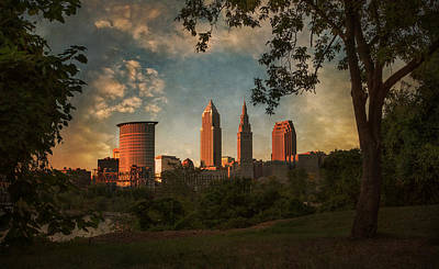 Photograph - A Dramatic View Of Cleveland by Dale Kincaid