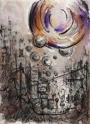 Drawing - A Dream Come True by Rachel Christine Nowicki