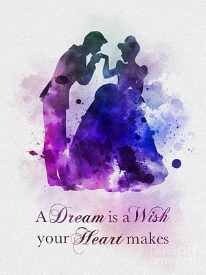 Watercolour Mixed Media - A Dream Is A Wish Your Heart Makes by Rebecca Jenkins