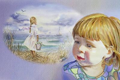 Painting - A Dream Of An Ocean by Irina Sztukowski
