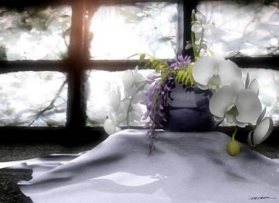 Purple Flowers Digital Art - A Dream Of Orchids by Cynthia Decker
