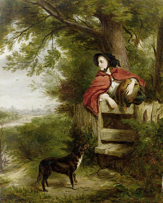 Puppies Digital Art - A Dream Of The Future by William Powell Frith
