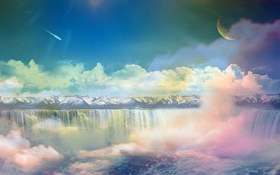 Sunset Digital Art - A Dreamy World by Maye Loeser