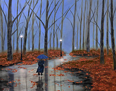 Dark Painting - A Dreary Autumn Evening 2 by Ken Figurski