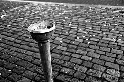 Photograph - A Drink Of Water In Amsterdam Mono by John Rizzuto