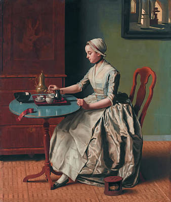 Meal Painting - A Dutch Girl At Breakfast by Jean-Etienne Liotard