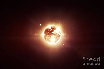Burst Digital Art - A Dying Star Which Will Soon Give New by Tomasz Dabrowski