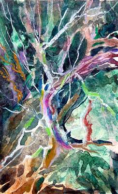 Change Painting - A Dying Tree by Mindy Newman
