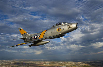 Photograph - A F-86 Sabre Jet In Flight by Scott Germain