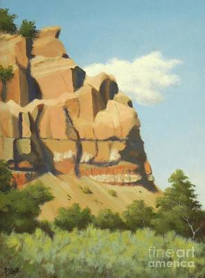 Abiquiu Painting - A Face In New Mexico by Phyllis Andrews