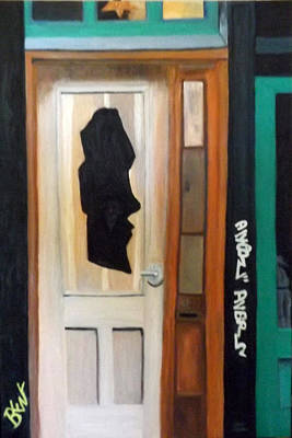 Painting - A Face In The Door by Brent  Harris