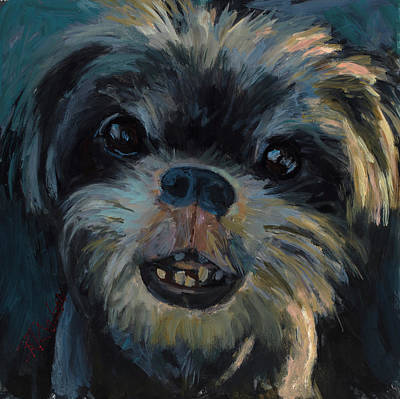Shih Tzu Painting - A Face Only A Mother Could Love by Billie Colson
