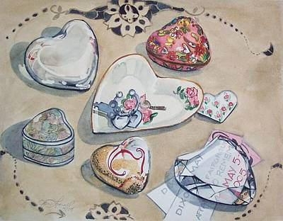Painting - A Fair of Hearts by Jane Loveall