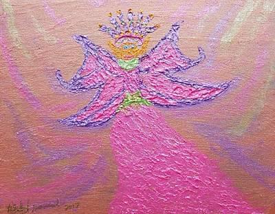 Painting - A Fairy Friend by Rachel Hannah