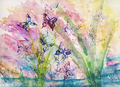 Steele Painting - A Fairy's World by Tina Steele Penn