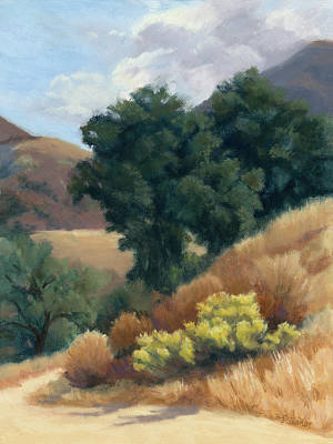 Painting - A Fall Day At Whitney Canyon by Sandy Fisher