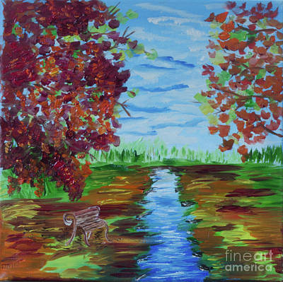 Painting - A Fall Day by Donna Brown