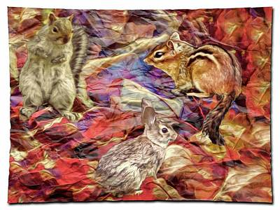 Digital Art -  A Fall Nature Collage. by Rusty R Smith