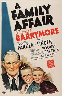 A Family Affair 1937 Art Print by M G M