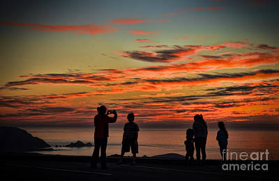 Photograph - A Family Enjoying The End Of A Day by Jim Fitzpatrick