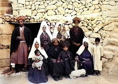Photograph - A Family From Bethlehem 1900 by Munir Alawi