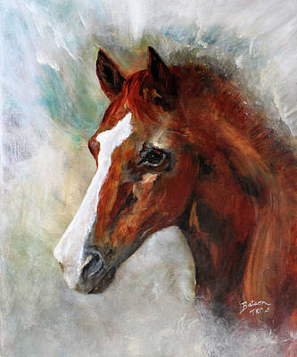 Painting - A Family's First Horse by Barbie Batson