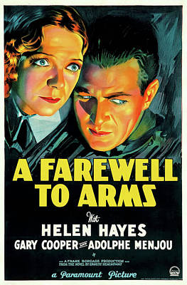 Classic Hollywood Mixed Media - A Farewell To Arms 1932 by Mountain Dreams