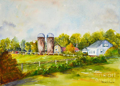 Painting - A Farm At Lincoln, Ri by Madie Horne