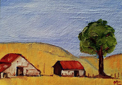Painting - A Farm In California Winecountry by Mary Capriole