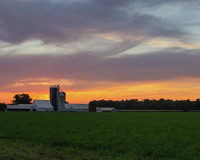 Photograph - A Farm Sunset by Steve Atkinson