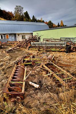 Photograph - A Farmer's Graveyard by David Patterson
