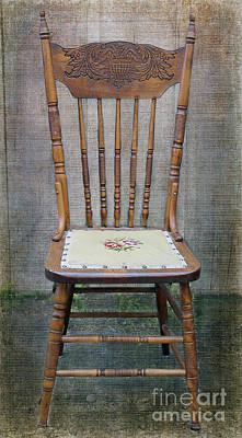 Photograph - A Farmer's Kitchen Chair by Nina Silver