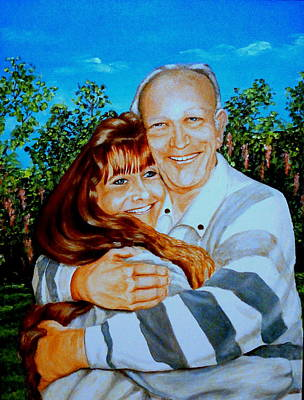Painting - A Father And Daughter by Ruanna Sion Shadd a'Dann'l Yoder