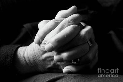 Photograph - A Father's Hands by Nina Silver