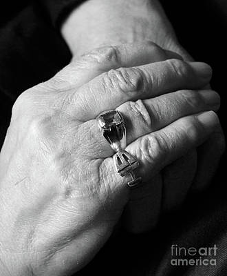 Photograph - A Father's Hands Remembering by Nina Silver