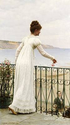 Leaning Painting - A Favour by Edmund Blair Leighton