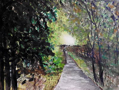 Painting - A Favourite Walking Path by Betty-Anne McDonald