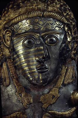 A Fearsome Visage Decorates A Thracian Art Print by James L. Stanfield