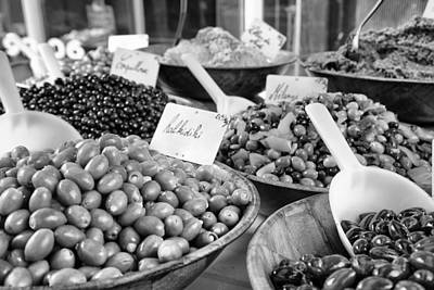 Kalamata Photograph - A Feast Of Olives In Mono by Georgia Fowler