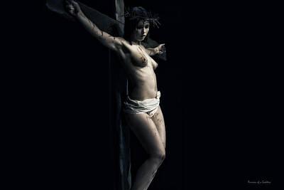 A Female Crucifix Art Print