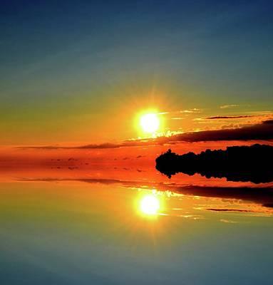 Digital Art - A Few Clouds At Sunrise Five  by Lyle Crump