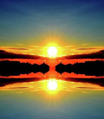 Digital Art - A Few Clouds At Sunrise Six  by Lyle Crump
