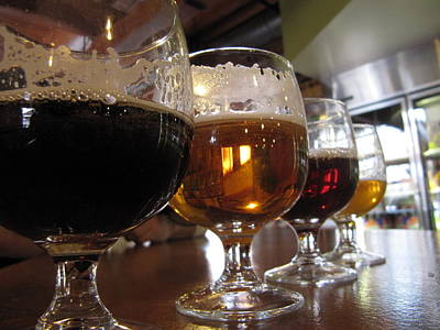 Carlings Beer Photograph - A Few Colors Of Beer. by Michael French